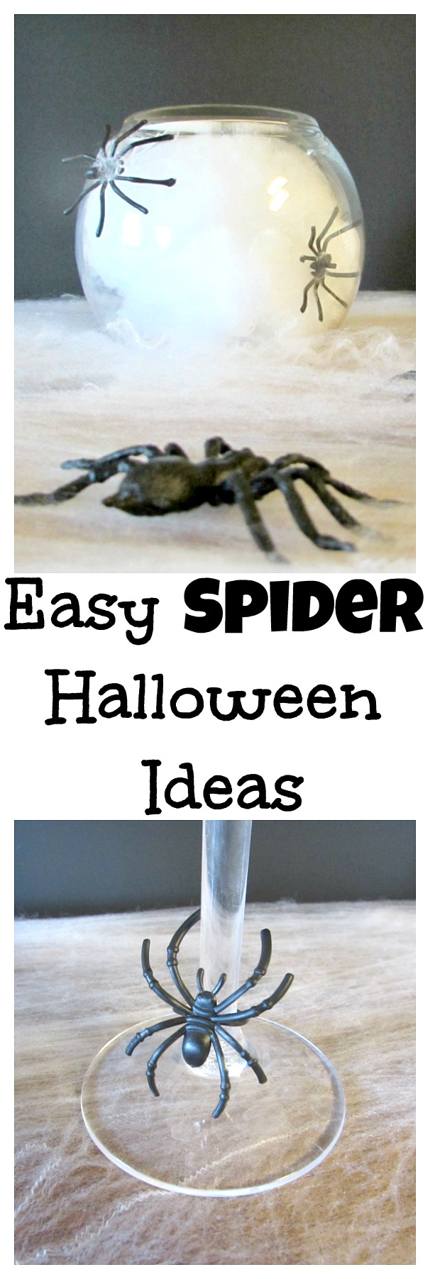 Easy spider Halloween ideas