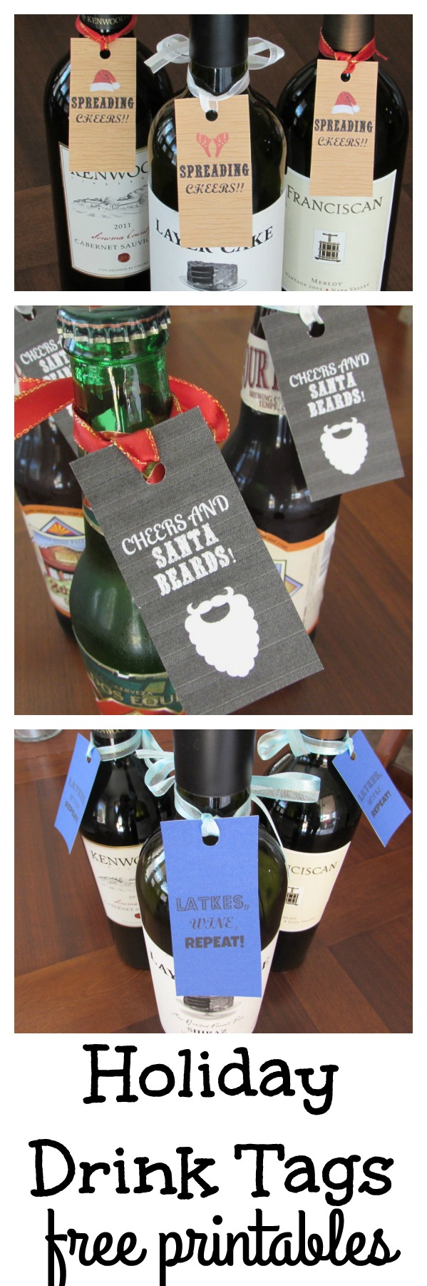 Holiday Drink Tags. Free printables for the holidays!