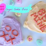 Candy Heart Sugar Cookie Bars