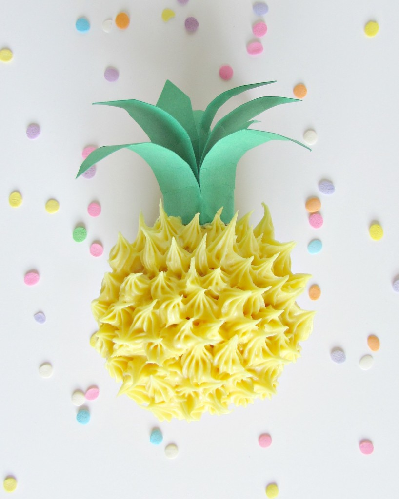Cupcake that looks like a pineapple