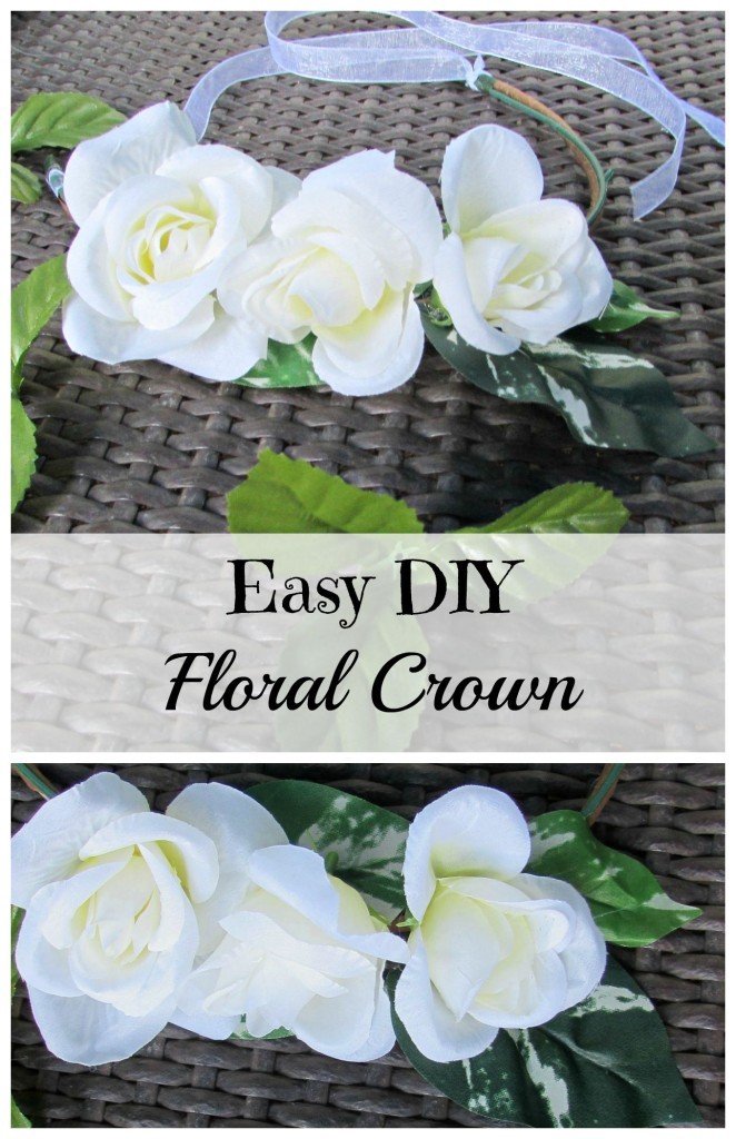 Easy DIY Floral Crown made with dollar store materials - Val Event Gal