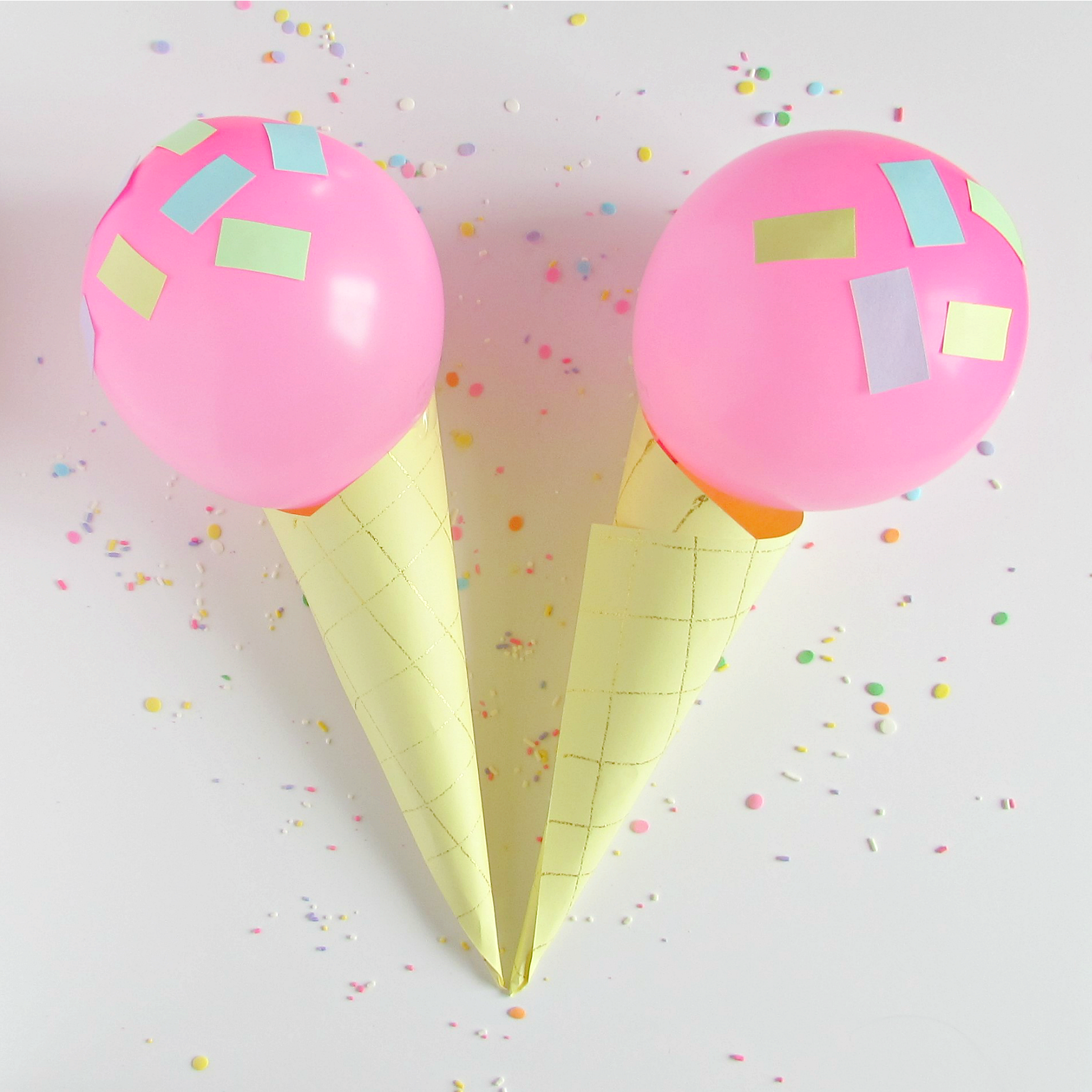 Ice Cream Cone Balloons - Val Event Gal
