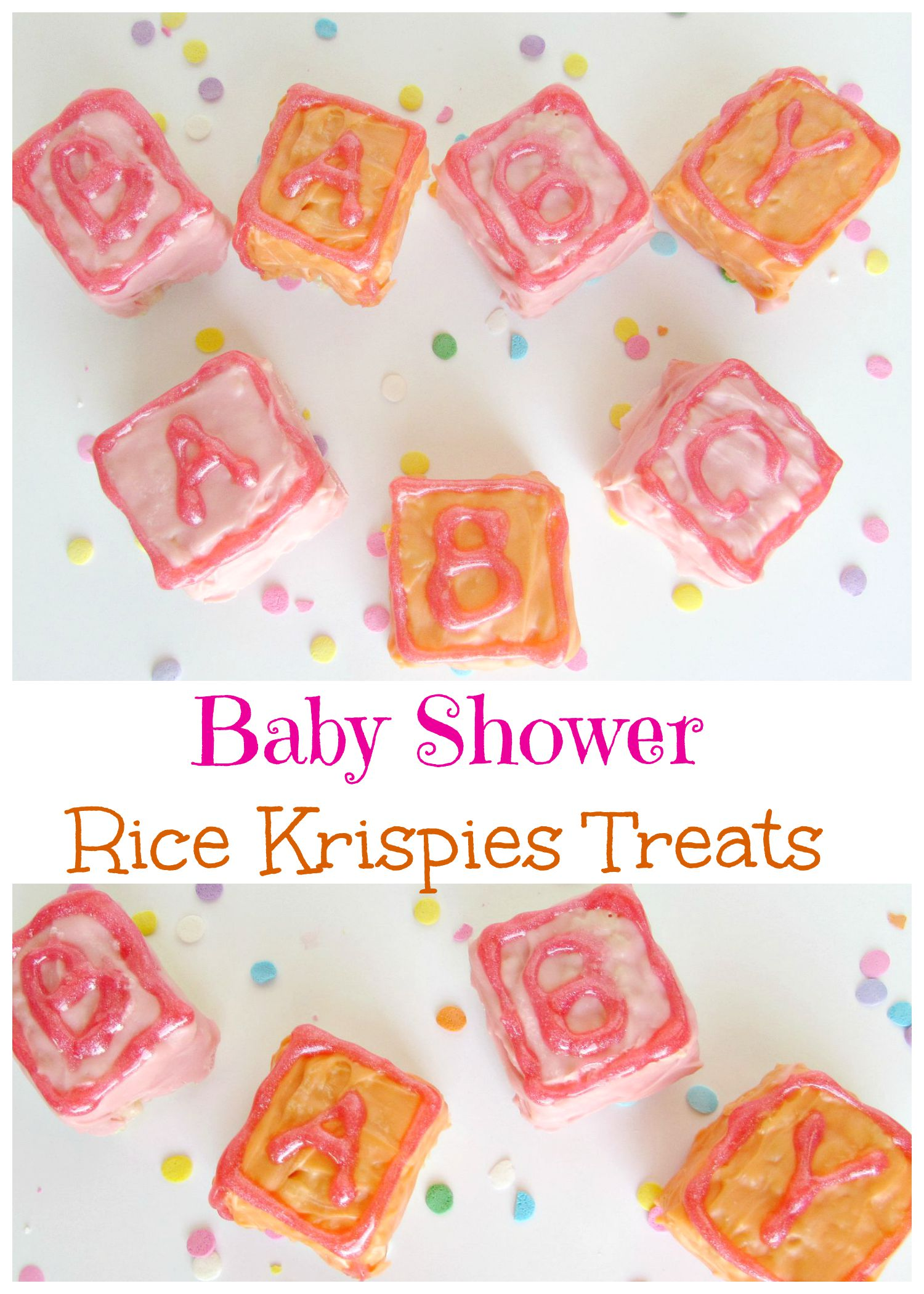 Baby Shower Rice Krispies Treats Val Event Gal