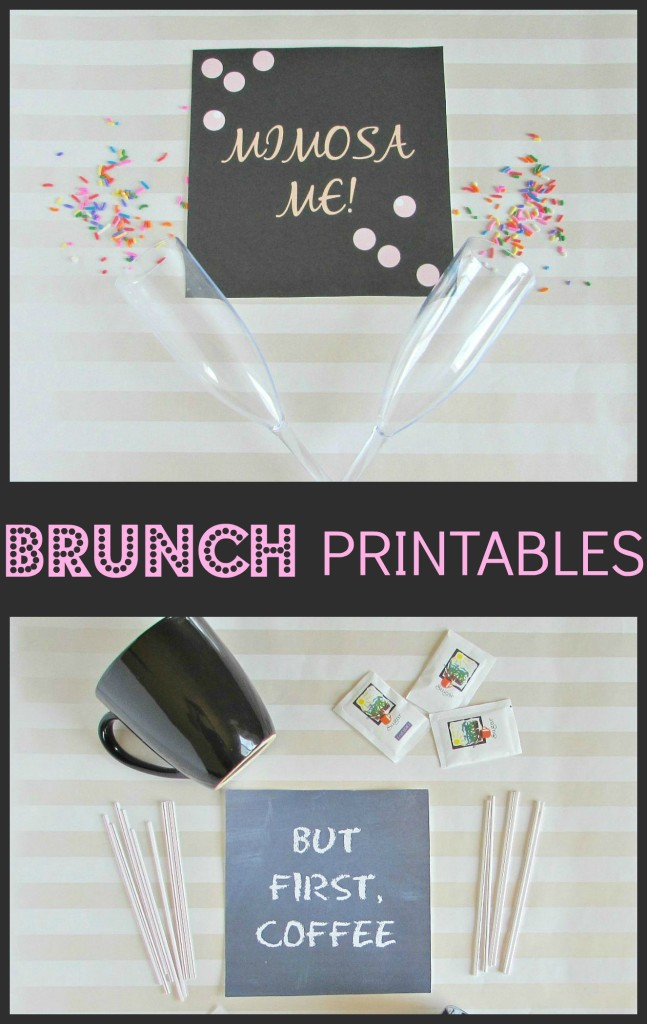 Brunch Printables- but first, coffee and mimosa me printables - Val Event Gal