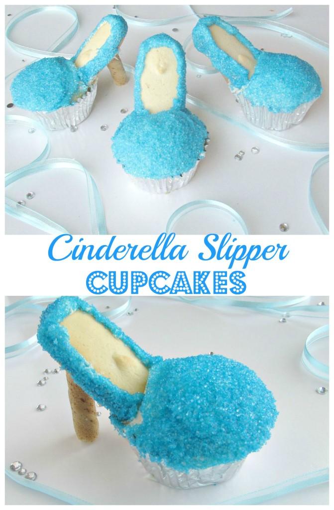 Cinderella Slipper Cupcakes - Val Event Gal