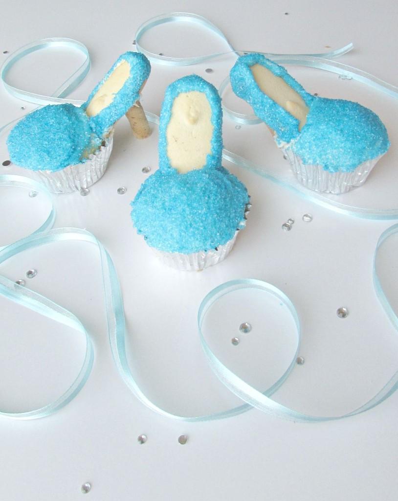 Cinderella slipper cupcakes