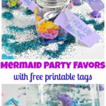 Mermaid Party Favors with free printable tags