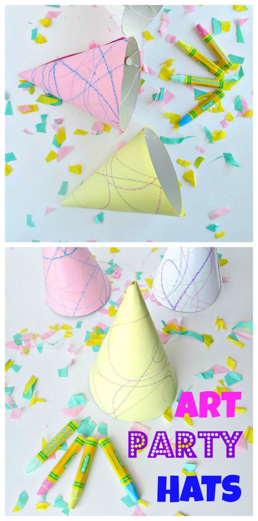 Art Party Hats! Let everyone show off their artistic side with doodle art party hats - Val Event Gal