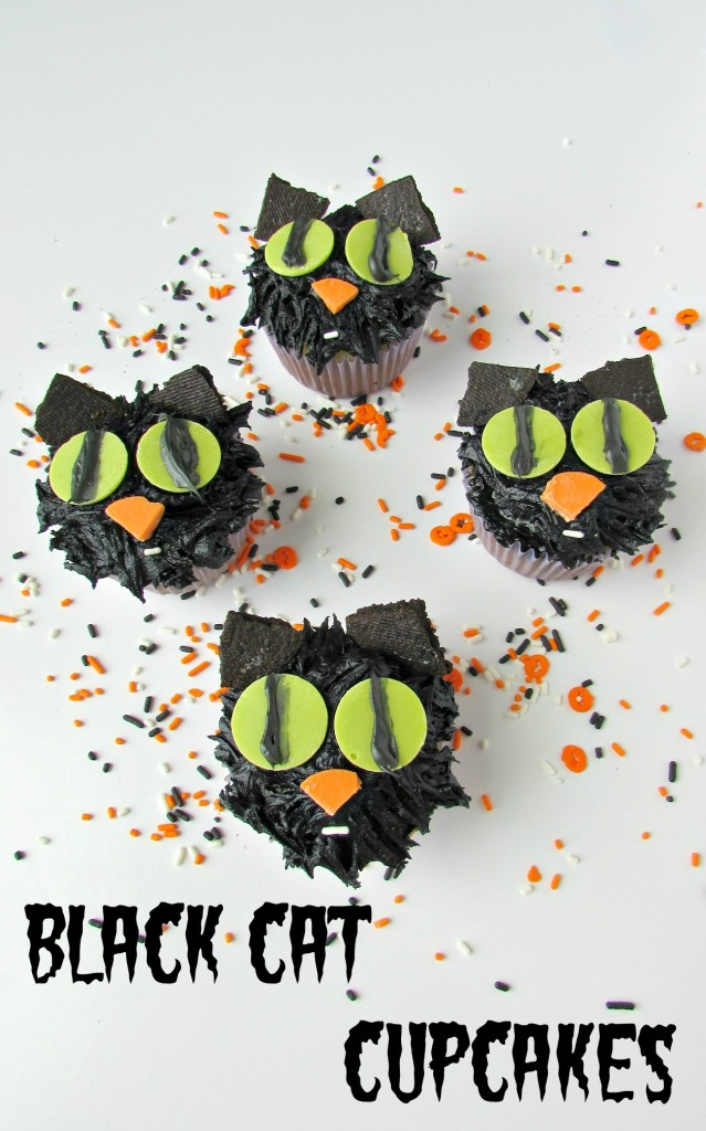 Black Cat Cupcakes - Val Event Gal