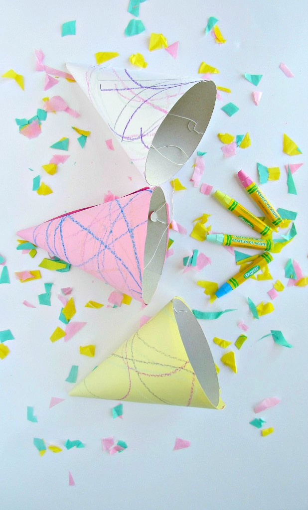 DIY Doodle Art Party Hats. Dress up cheap party hats with fun drawings! -Val Event Gal