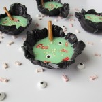Witches Brew Pudding in Chocolate Bowls