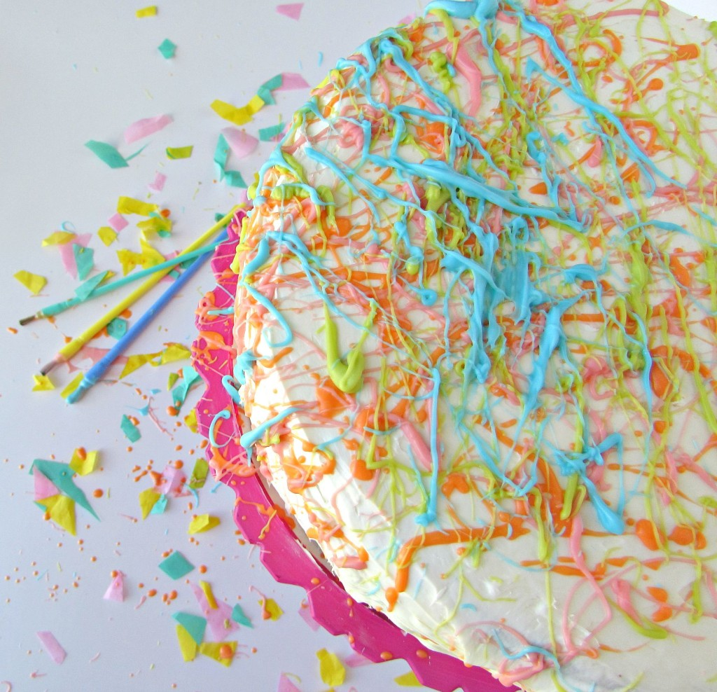 Splatter color cake