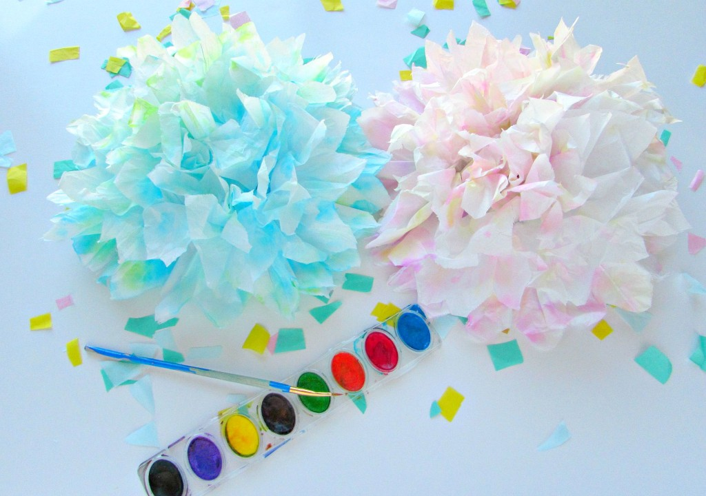 Pretty watercolor tissue paper flowers - Val Event Gal