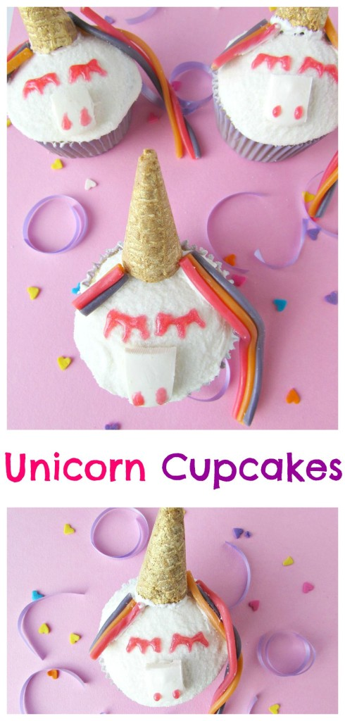 Unicorn Cupcakes with colorful hair - Val Event Gal