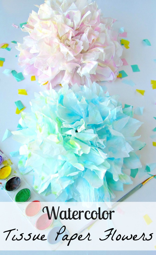 Watercolor Tissue Paper Flowers. - Val Event Gal