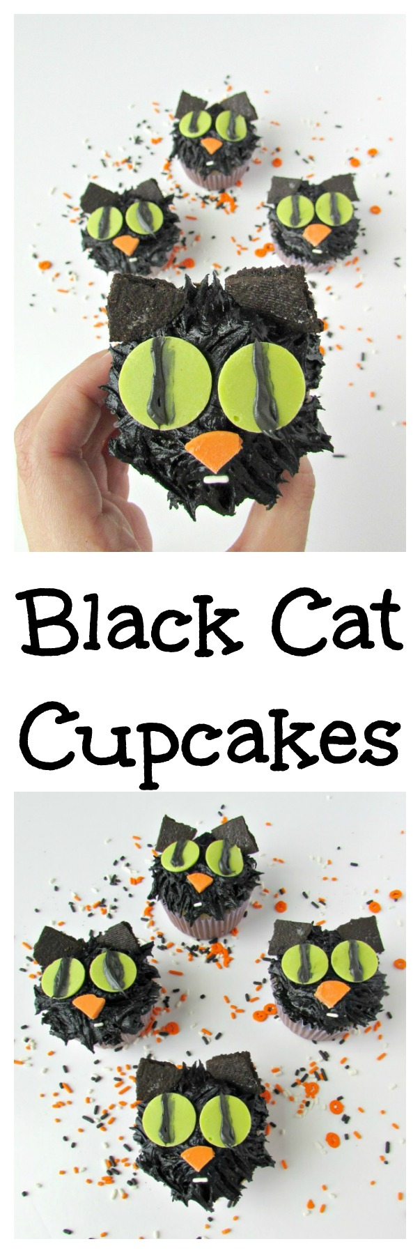 Black Cat Cupcakes are an easy Halloween dessert