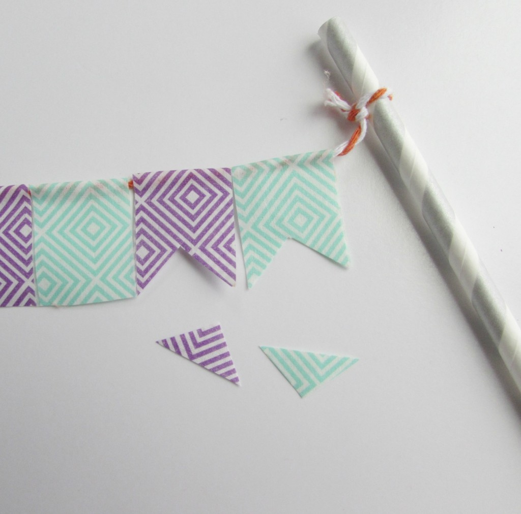 Cut small triangle in middle of washi tape