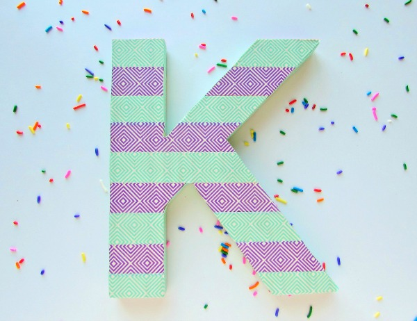DIY Washi Tape Letter