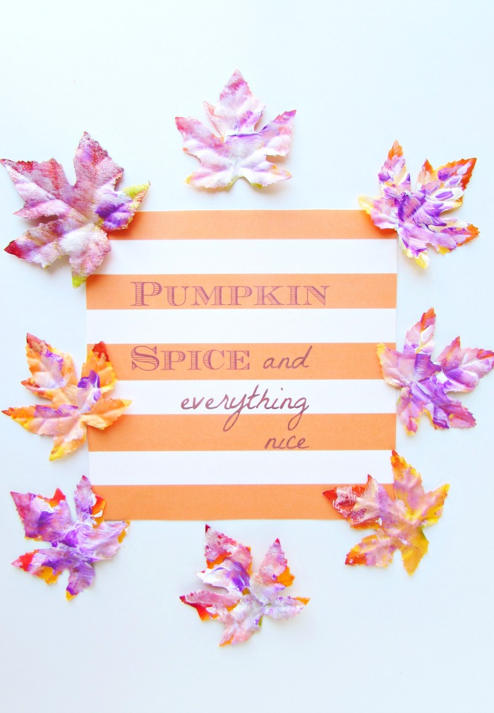 Fall Pumpkin Spice and everything nice printable - Val Event Gal