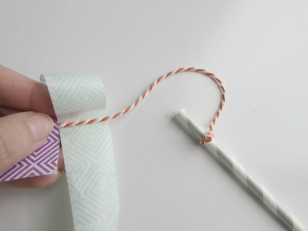 Fold washi tape over