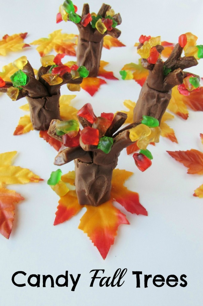 Candy Fall Trees easy to make desserts for a fall party or just for a fun fall treat! - Val Event Gal