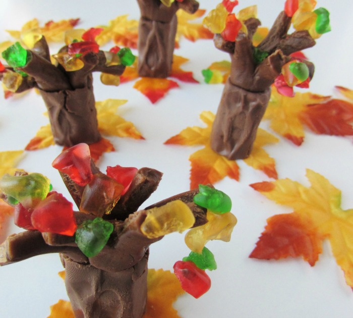 Fall candy trees