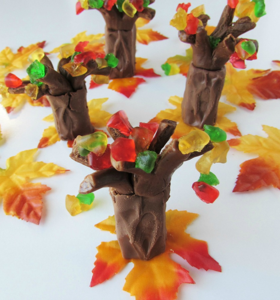 Candy Fall Trees with colorful candy leaves