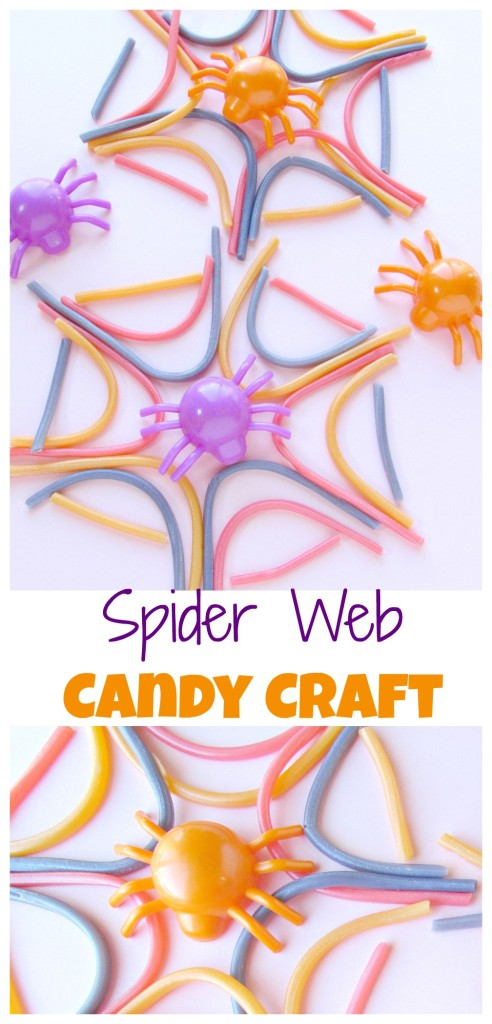 Spider Web Candy Craft- make candy spider webs for a fun Halloween craft you can eat too! - Val Event Gal