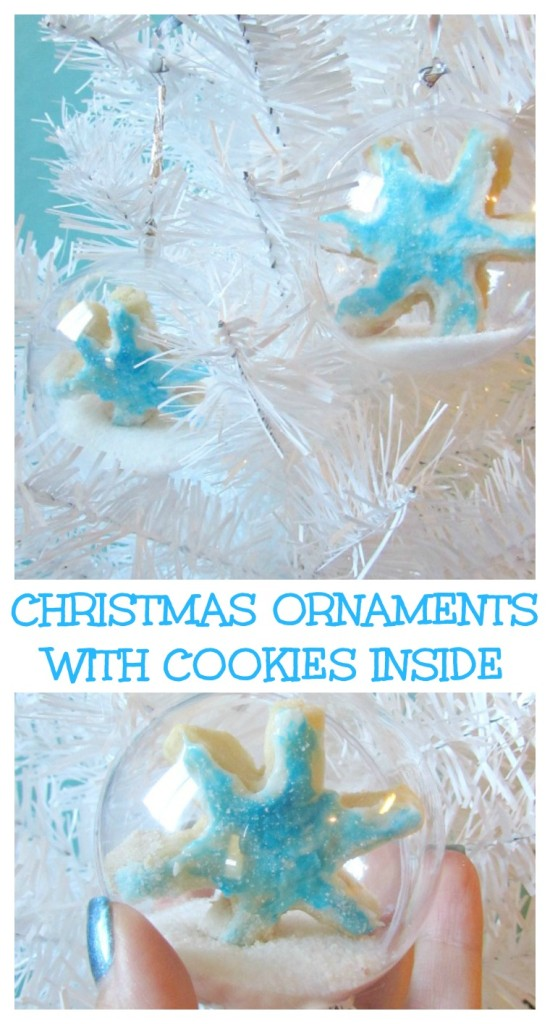 Christmas Ornaments with Cookies Inside. A fun way to give presents or to hang cookies on the tree for a holiday party