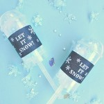 DIY Snow Confetti with Printable Labels