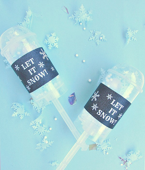 confetti that looks like snow is easy to make for a winter party