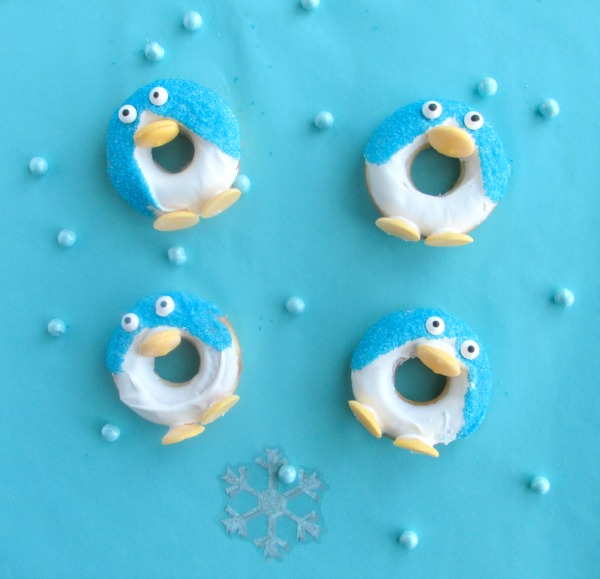 penguin donuts in blue and white
