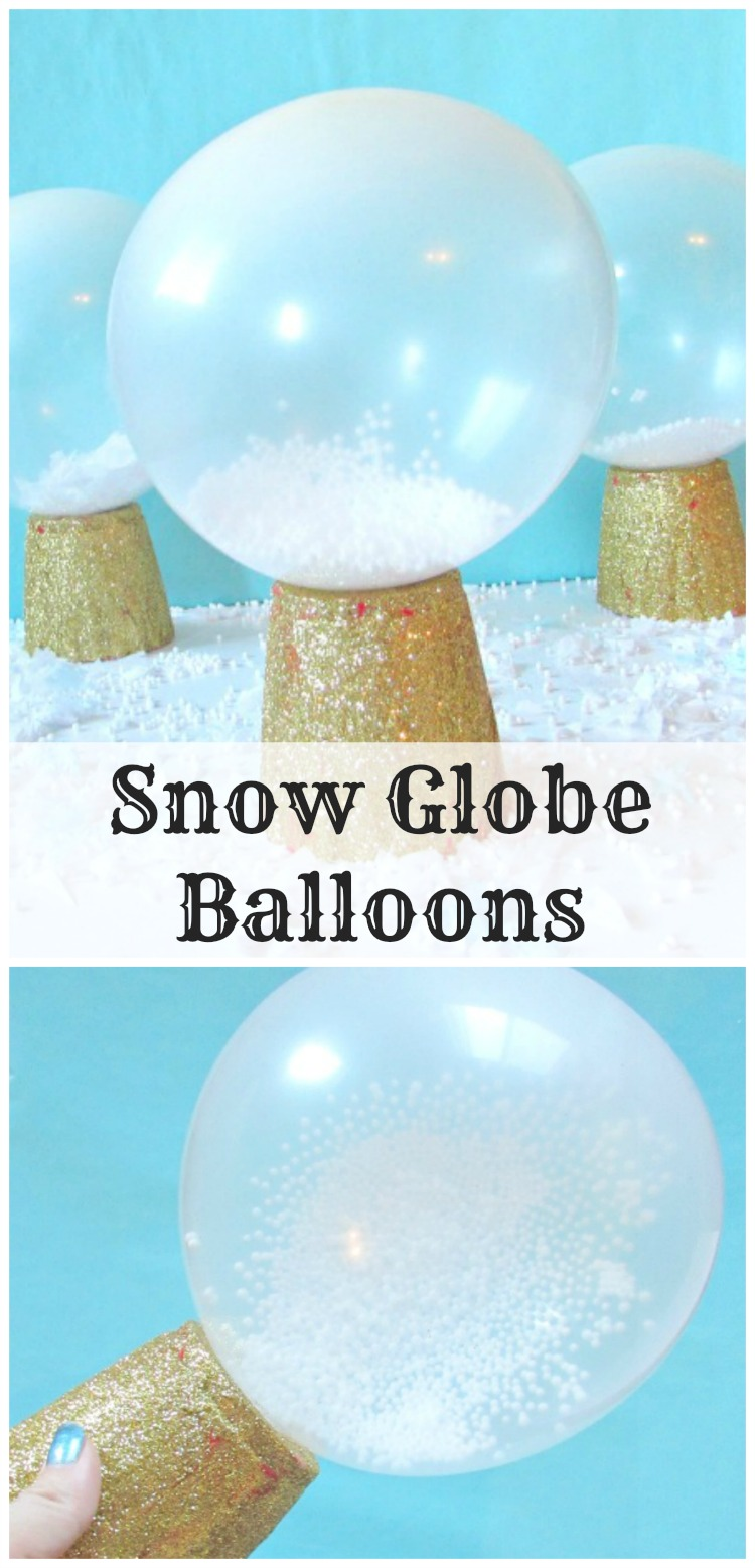Snow globe balloons val event gal