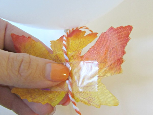 Tape leaves onto string