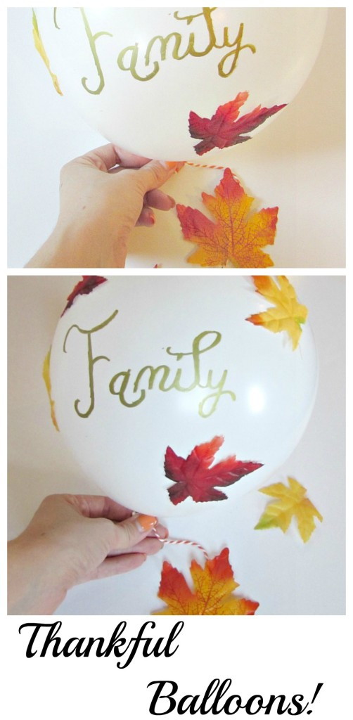 Thankful Balloons. Write what you are thankful for on a balloon to show thanks this Thanksgiving!