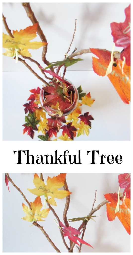 Thankful Tree! Write down what you are thankful for on a leaf and add it to the thankful tree