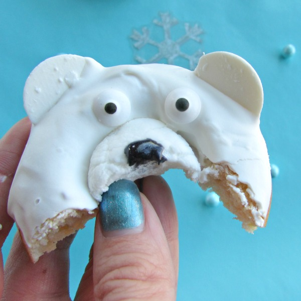 This little polar bear donut went in my belly
