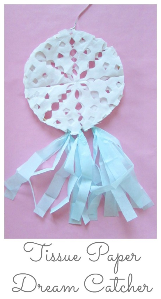 Tissue Paper Dream Catcher and snowflake tissue paper dream catcher