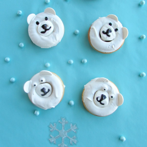 WInter bear donuts