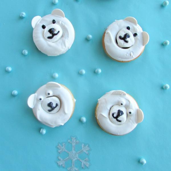WInter bear donuts