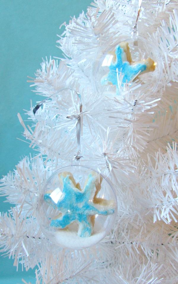 hanging snowflake cookies
