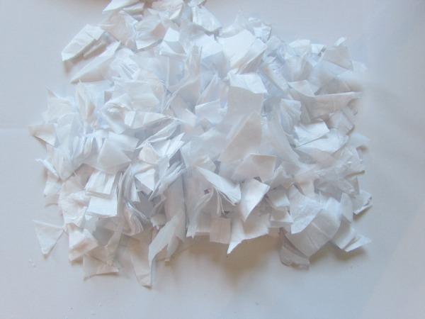 tissue paper snow