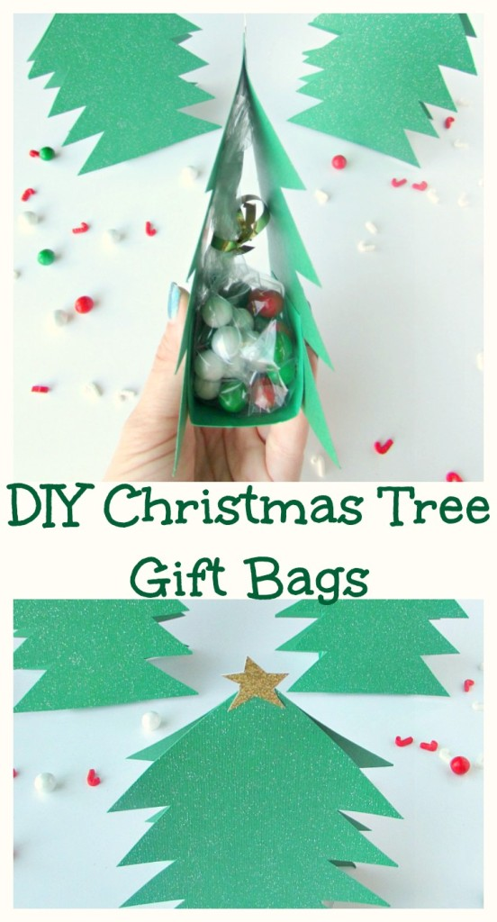 DIY Christmas Tree Gift Bags
