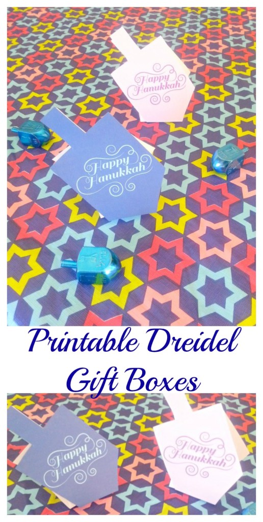 Printable Dreidel Gift Boxes perfect for gelt and other small treats