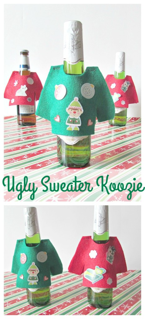 Ugly Sweater Koozies, dress up your dirinks at a holiday party with ugly sweater koozies!