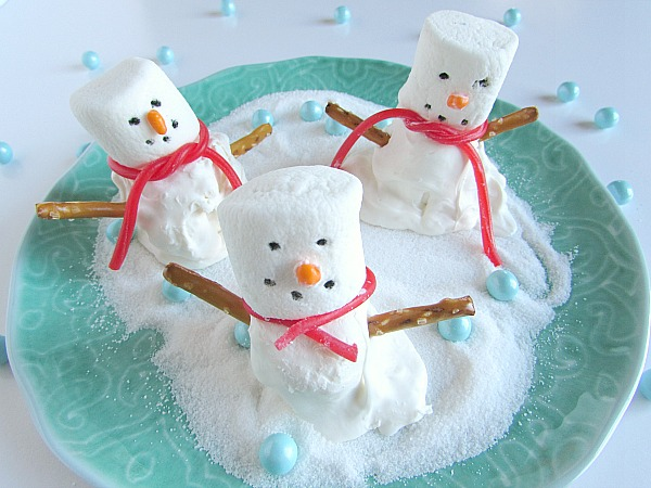 melted snowmen marshmallows