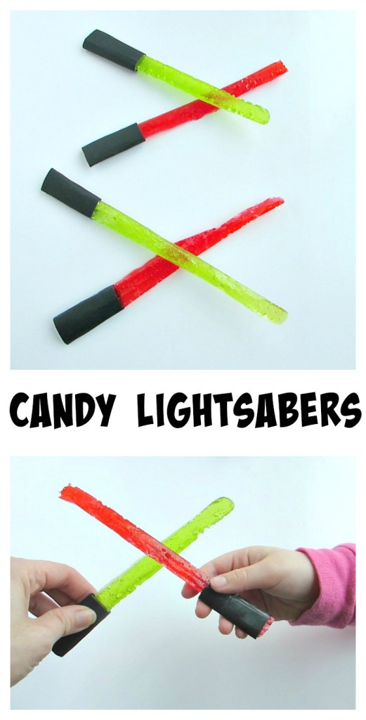 Candy Lightsabers are the perfect easy dessert for a Star Wars party! #starwars