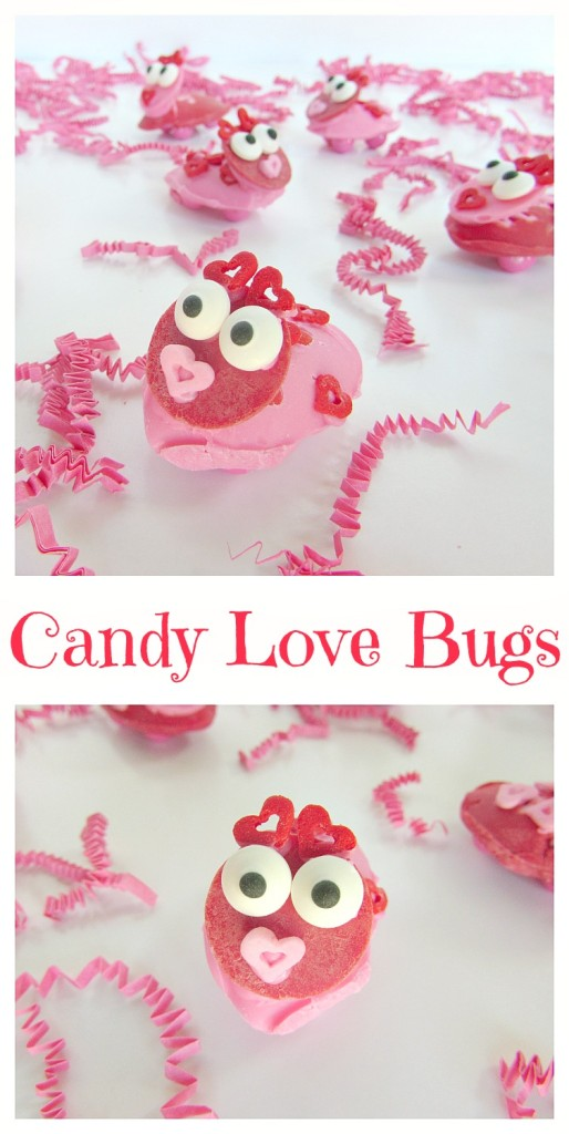 Candy Love Bugs are an adorable Valentines dessert you can make
