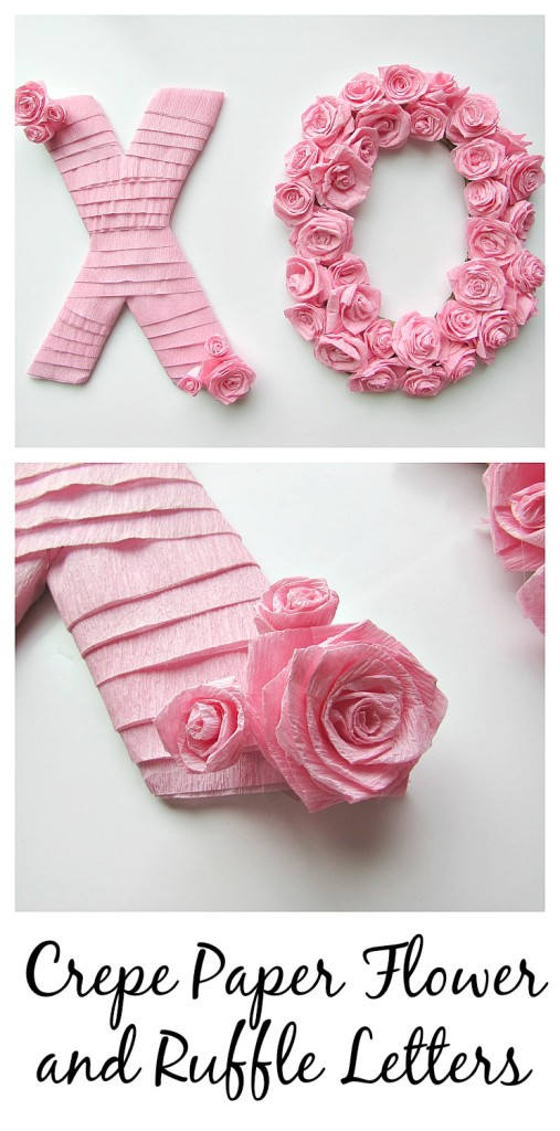 Crepe Paper Flower And Ruffle Letters Val Event Gal