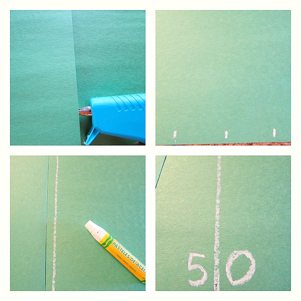 Make football field table runner
